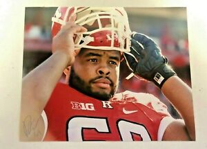 RUTGERS FOOTBALL DERRICK NELSON #69 SIGNED AUTOGRAPHED PHOTO BALTIMORE RAVENS