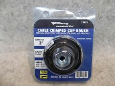 """FORNEY INDUSTRIAL PRO 72856 3/"""" PREMIUM CRIMPED WIRE CUP BRUSH UPC:032277728561"""