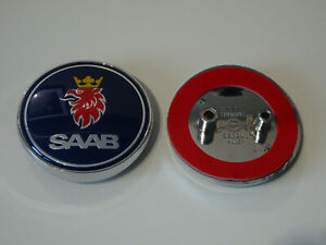 Saab-93-9-3-Saloon-2003-2007-Trasero-Arranque-Insignia-Emblema-12769690-Azul-Nuevo