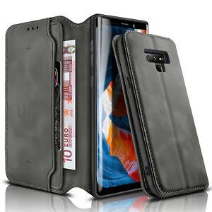 Ledertasche-fuer-Samsung-Galaxy-Note-9-Handytasche-Flip-Cover-Case-Huelle-Etui