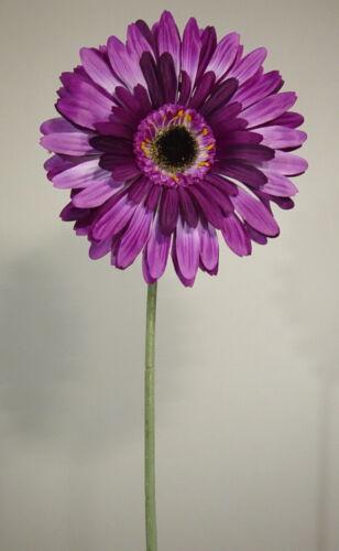 Blüte o17,5cm Gerbera lila 75cm hoch VE a 12 Stück Kunstblumen