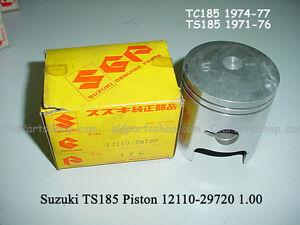 Details about Suzuki TS185 Piston 1 00 1971-76 NOS TC185 1974-77 Oversize  PISTON 12110-29720