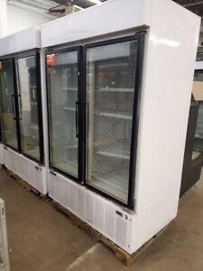 Master-Bilt-BLG-48HD-Two-Door-52-034-Glass-Display-Freezer-Frozen-Ice-Cream-Pizza