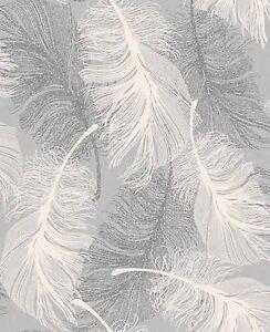 NEUF ROULEAU couleur Plume Argenté Brillant papier-peint par Tacheté ...