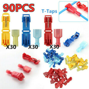Insulated Electrical Splice Crimp Connector Terminals Male Tab Type