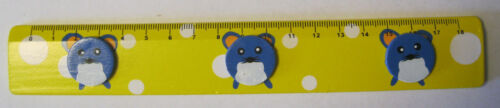 18 cm Ruler Children Wood Wooden Ruler Children Ruler School Animal Animal Print Colorful