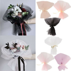Details About 10pcs Tulle Florist Packing Supplies Bridal Wrapping Flower Bouquet Craft