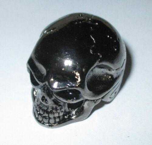 Potiknopf Jumbo Skull Totenkopf  Q-parts Metall schwarz Knopf  6,00 /& 6,3 mm