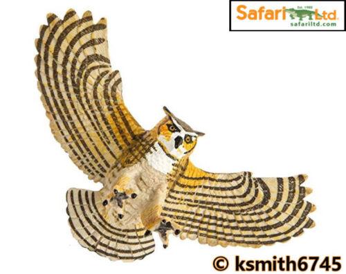 NUOVO * Safari Bubo solido in plastica giocattolo Wild Zoo Animale Bird Predator