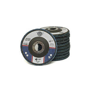 "10 Pack 4.5"" x 7/8"" Professional 40 Grit Zirconia Flap Disc Grinding Wheels T27"