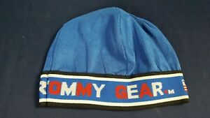 064de1847e4f0 Image is loading Vintage-Tommy-Gear-Skullcap-Beanie-Blue-Ribbed-Fabric-