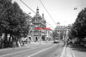 PHOTO-1990-NETHERLANDS-AMSTERDAM-TRAM-GVBA-LEIDSEPLEIN-TRAM-NOS-681-ON-ROUTE-NO