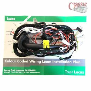 image is loading lucas-main-wiring-loom-triumph-t100-t120-tr6-