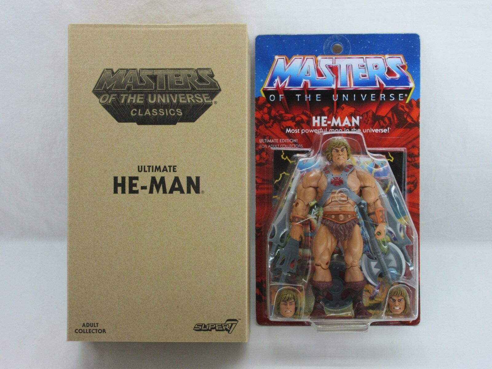 MOTUC,ULTIMATE HE-MAN,SUPER 7,MASTERS OF UNIVERSE,CLASSICS,Sealed,MOC