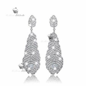 18k-white-gold-gf-made-with-SWAROVSKI-crystal-leaves-stud-earrings-925-silver