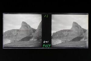 Berneval Normandia Francia Foto Estéreo 9n5 Placa Cristal Vintage Negativas 1936