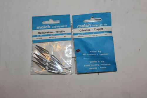 par laufblei-Made in France 2pak-3 0 G-torpille-bleiolivettes-olivenblei