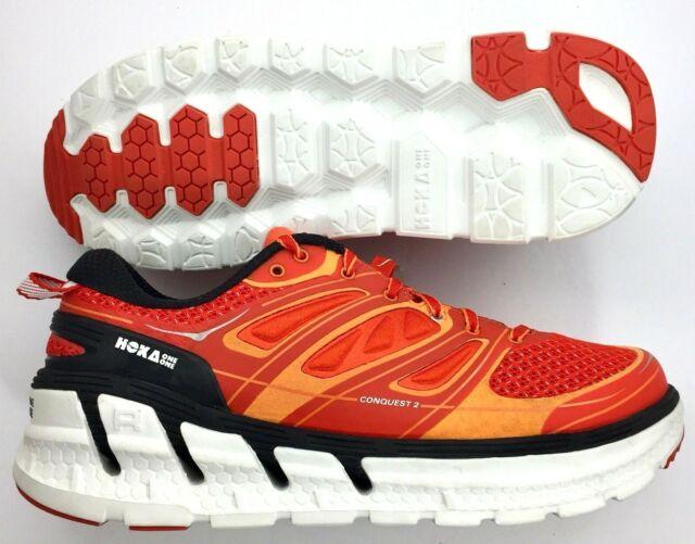 Hoka One One Conquest 2 1007855 OFPWH Orange Flash Men Running Shoe Size US 9