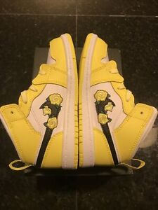 Nike Air Jordan 1 Mid SE TD Rose Patch Dynamic Yellow AV5172-700 ...