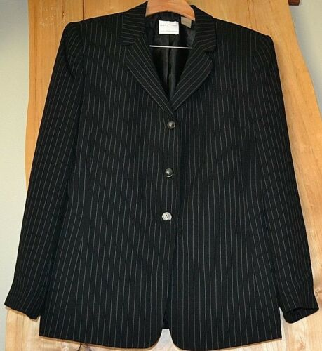 Women EMMA /& JAMES Jacket Black With Pin Stripes Size 14 OR Black Size 14 CHOICE