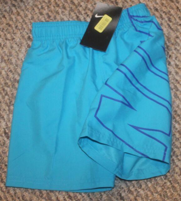 c930362868 Nike Boys Size 4 Toddler Swim Trunks Blue Bathing Suit Shorts for ...
