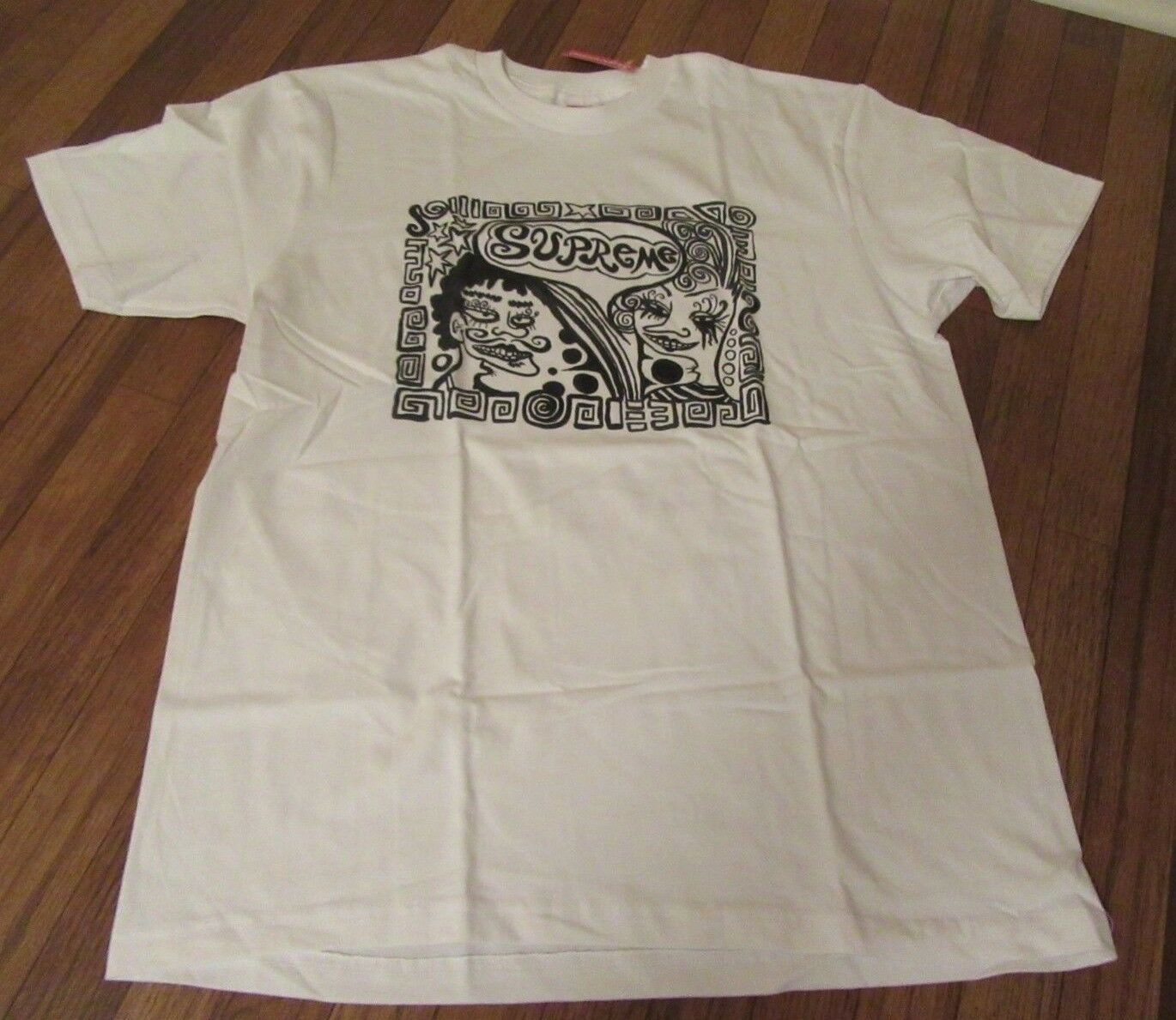 Supreme Faces Tee T-Shirt Size Large White FW18T7 FW18 Supreme New York NEW 2018