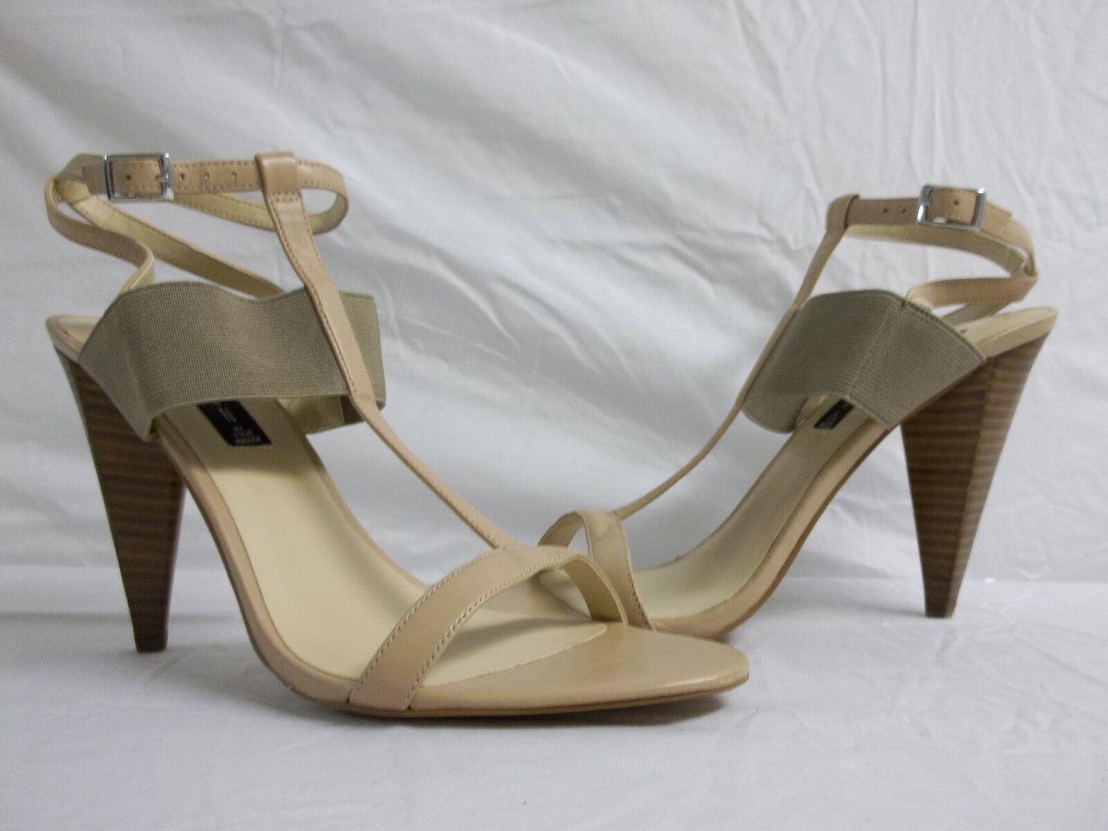 Steven By Steve Madden 9.5 M Lola Leather Open Toe Heels chaussures New femmes NWOB