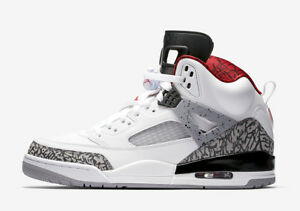 on sale 8a5f4 fc41b Image is loading Nike-Air-Jordan-Spizike-WHITE-CEMENT-GREY-3-
