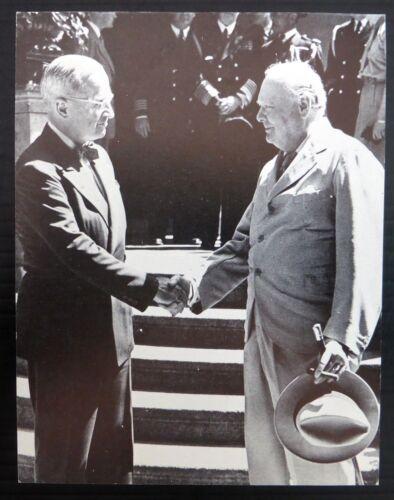 "POSTCARD Churchill /& Truman /""Never Despair/"" Potsdam 1945 Unused NK709"