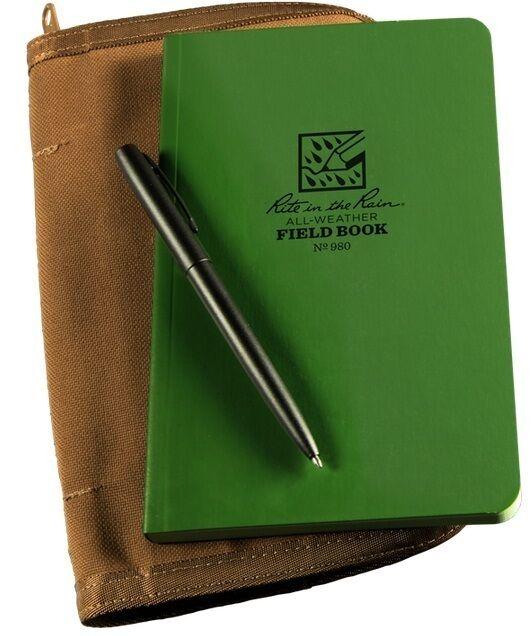 Rite in the Rain 980-Kit All-Weather Universal Bound Book Kit, Green Tan