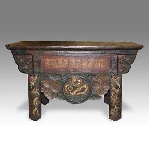 Fantastic Details About Antique Monks Writing Table Painted Pine Tibet Chinese Furniture 19Th C Interior Design Ideas Ghosoteloinfo
