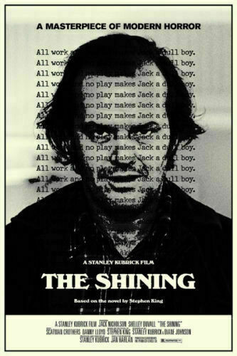 N609  The Shining Stanley Kubrick Classic Horror Movie Silk Poster 20x30 24x36/'/'