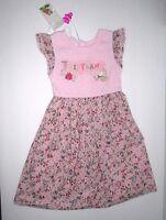 Girls Pampolina Pink & Blue Floral Rosette Heart Dress Size 18 Months