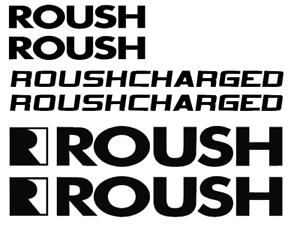 Ford MUSTANG ROUSH Racing Decal Vinyl Sticker emblem logo kit set 6 pieces