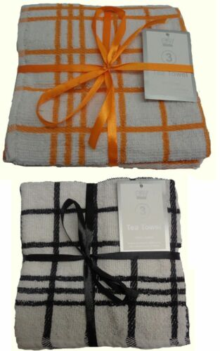3Pcs Absorbent 100/% Cotton Kitchen Tea Towels Dish Drying Cleaning towel Cloth