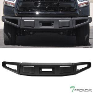 Topline For 2014-2019 Toyota Tundra RT Style Modular Steel Front Bumper - Black
