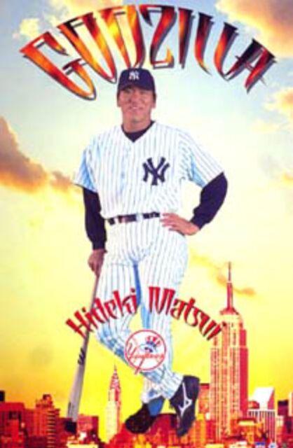 New Starline MLB New York Yankees Hideki Matsui Godzilla Wall Poster