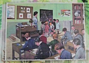 Decoration-Murale-Set-de-Table-42-x-30-cm-1950-la-salle-de-Classe-la-Lecon