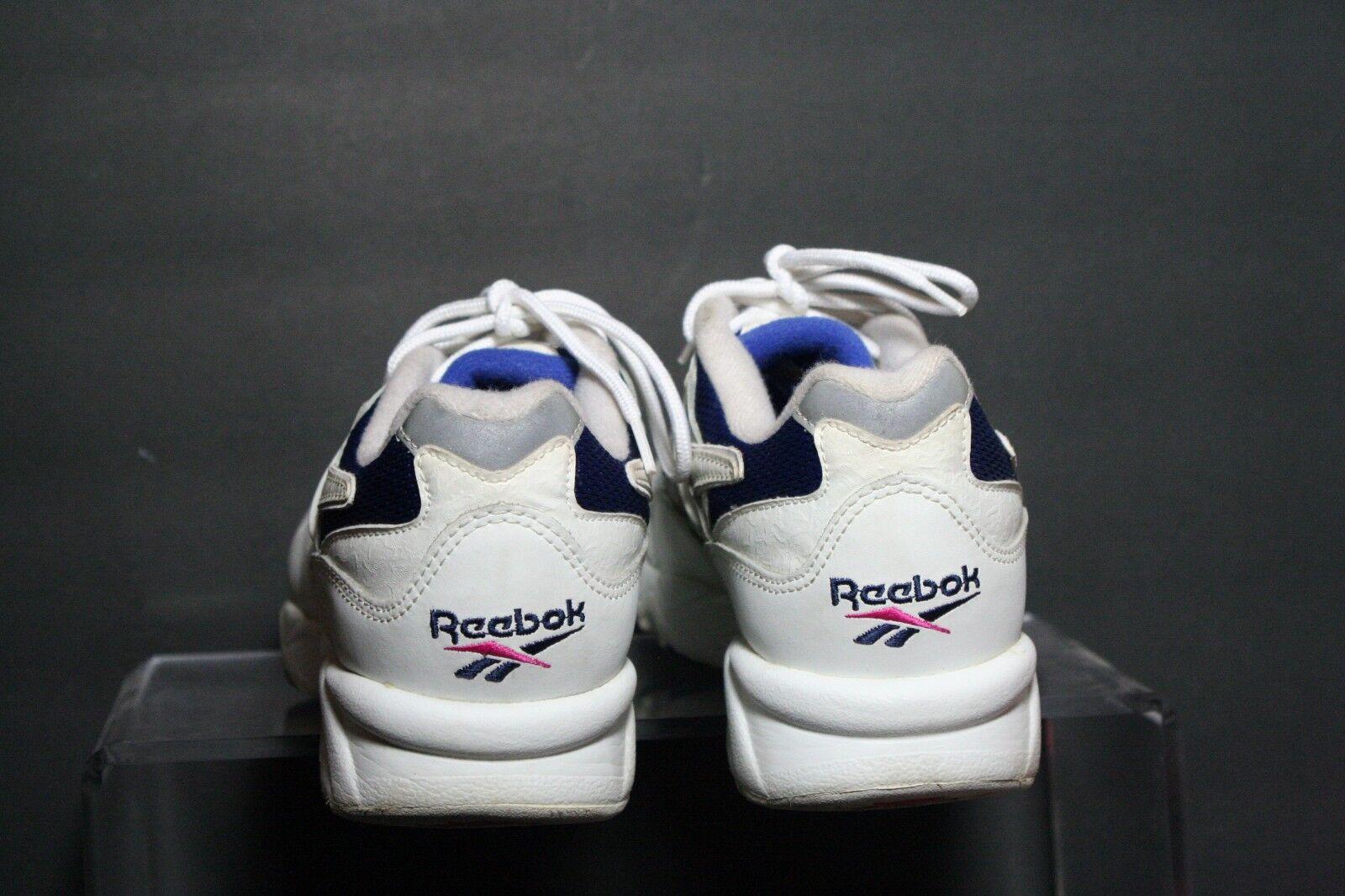 Reebok Walk DMX Vintage OG Sneaker Athletic Multi Women 9.5 Hip White Blue Ath