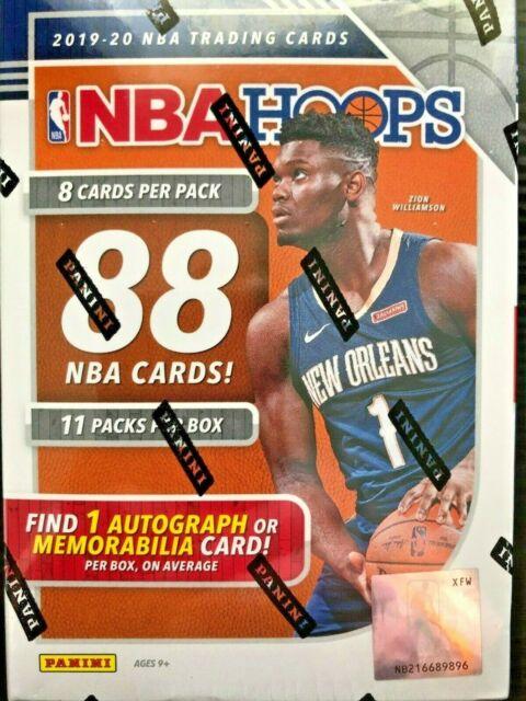 Panini 2019-20 SEALED NBA Hoops Basketball Trading Card Blaster Box Zion