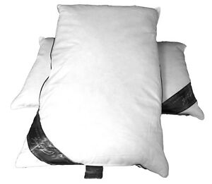 Details about Duck Feather and Down Pillow Pair, Size 48 x 74 cms, 19