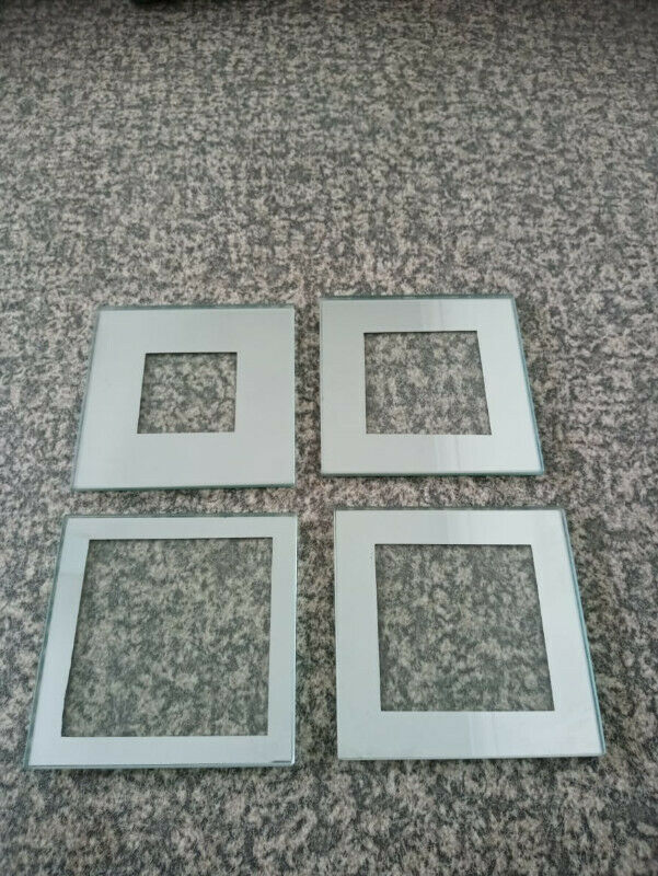 Square Glass Drinks Coasters