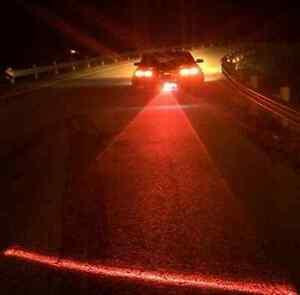 Car LED Laser Fog Light Vehicle Anti-Collision Tail-light Brake Warning Lamp 1Pc