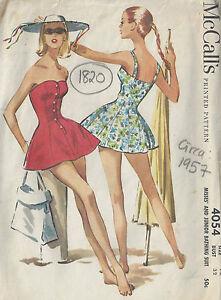 "111 1950s Vintage Sewing Pattern BATHING SUIT-SWIMSUIT B30/"""