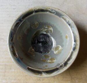 14cm-Wide-Cath-Wyllie-Australian-Studio-Pottery-Brown-Crystalline-Glazed-Bowl