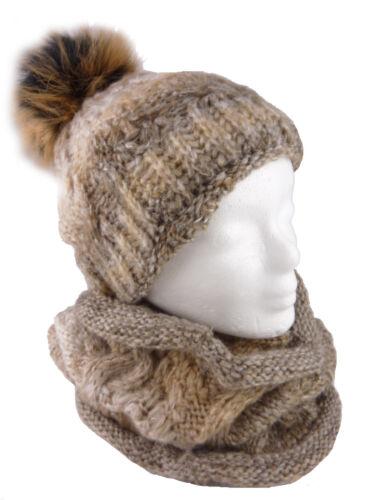 JOY 2 teiliges Damen Winterset Mütze Schal kuschelweich Damenmütze Kapuzenschal