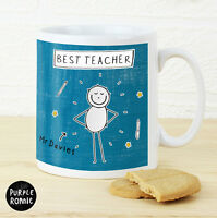 Teacher Gift - Purple Ronnie Teacher Mugs - Personalised Thank You Gift