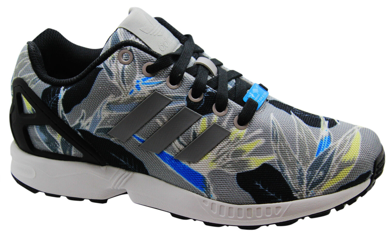 Adidas Originals ZX Flux Lace Mens Trainers Running Shoes Lace Flux Grey B34519 U116 344249