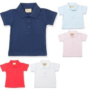 8ab471bda Image is loading Baby-Toddler-Larkwood-100-Cotton-Polo-Neck-Collar-