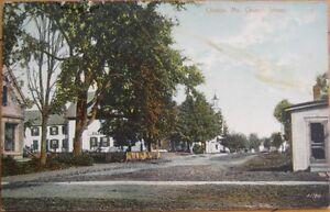 1910-Postcard-039-039-Church-Street-Clinton-Maine-ME-039-039